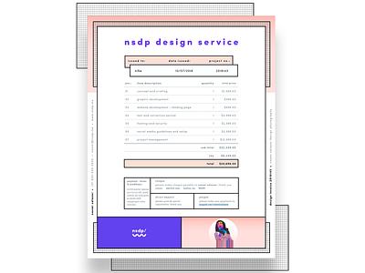 Personal Invoice Rebrand invoice graphic design design invoice design brand assets memphis design creative direction visual design brand and identity brand