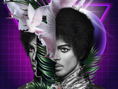 Prince Remixed 💜 ☔️🕊 prince digital design 3d art key art designer design artist airbrush photoshop mixed media photorealistic illustrator cc illustration art
