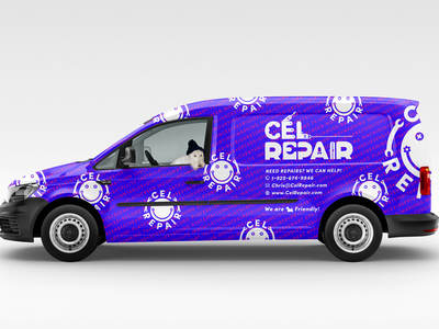 CEL Repair Branded Car Wrap dimension cc illustrator photoshop identity marketing logo icons iconography graphic designer car wrap branding adobe