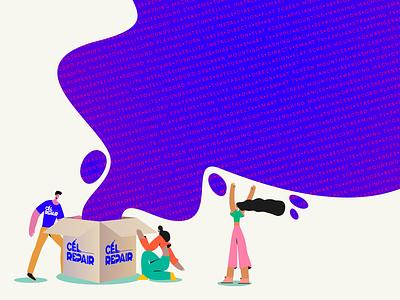 CEL Repair Branding graphic  design graphic marketing illustrator character illustration illustrations identity branding adobe