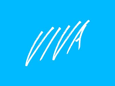 Viva type typography logo handwritten lettering