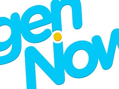 genNow logo branding