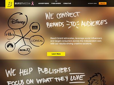 2013 Burst Media Website Redesign interaction ui ux branding web corporate