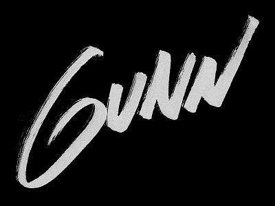 Gunn Logo logo typography brush logotype