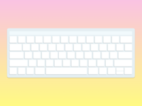 Minimalist keyboard for Medium article