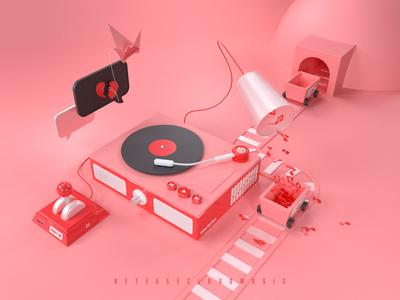 3D for Netease Cloud Music