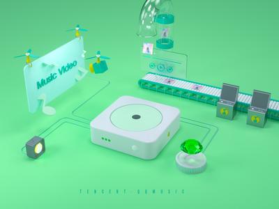 3D for QQmusic