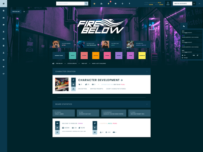 Fire Below — Forum Theme