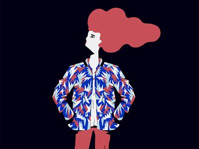 Bombers fashion illustration character design illustration
