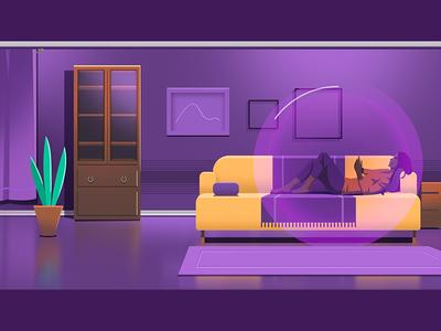 Apartment - Apop decoration design illustration girl home house apartment
