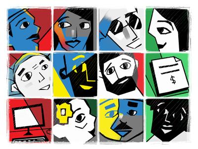 Brazilian people people illustraion cordel brasil brazil characters character design faces