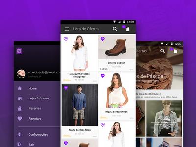 Shopping app UI ui shopping mobile ios material app