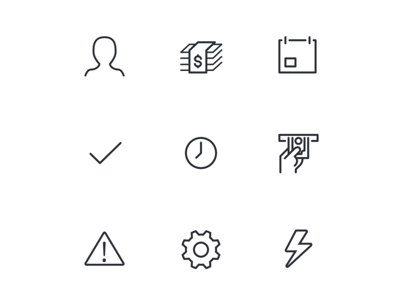 System icons finance icons mobile interface