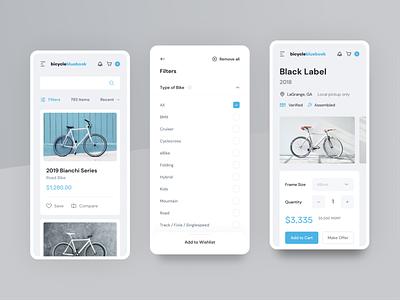 Bicycle Blue Book Marketplace bluebook ecommerce bicycle shop bike bicycle marketplace web webdesign website ux ui uxdesign uidesign