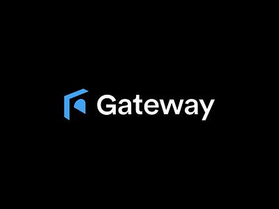 Gateway Branding arch internet privacy security gateway negativespace minimal mark logo design branding identity brand logo