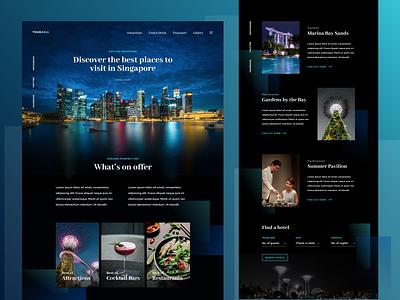 TourAsia – Travel Homepage singapore vacation asia travel interface web ux webdesign uidesign website ui