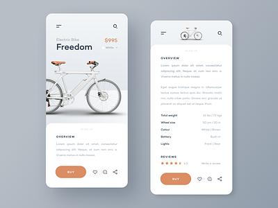 Bike Store App uxdesign uidesign bicycle bike ecommerce shop ecommerce ux ui