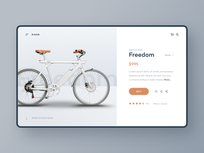 Product Page – Bike Store uidesign web design website shop bicycle bike product ecommerce ux ui