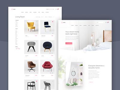 Furniture Website shopping ecommerce uxdesign uidesign webdesign home furniture website ux ui