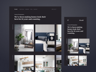 Property Photography Homepage homepage simple minimal photography furniture home property website webdesign web uxdesign uidesign ux ui