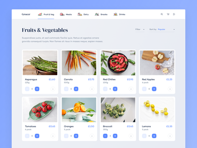 Grocery Shopping Products Page supermarket food grocery shopping shop ecommerce webdesign website web uxdesign uidesign ux ui