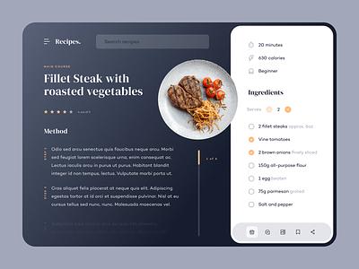Recipe Website cooking food recipe recipes webdesign uxdesign uidesign website web ux ui
