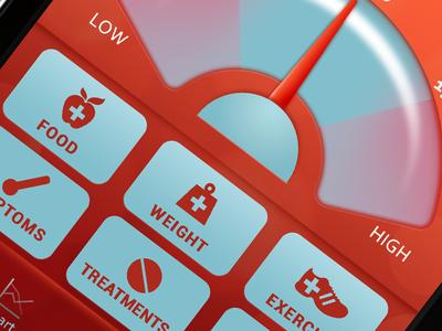 Dribbble Shots diabetes app