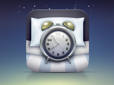 Sleeponit app icon sleep alarm clock mobile ui