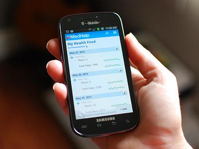 Health Feed health ui mobile web interface data visualization tracker