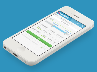 Minimal Healthfeedentry sleep ui data entry health feed mobile web ui medhelp