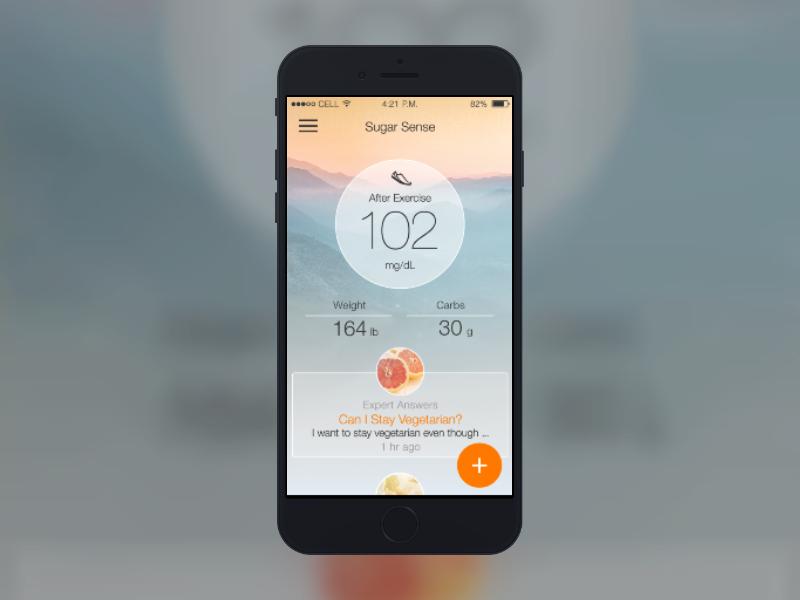 Diabetes App Content tiles health nature content diabetes