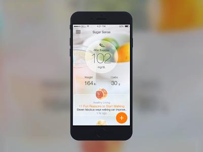 Diabetes App Content tiles (contd) diet health content diabetes