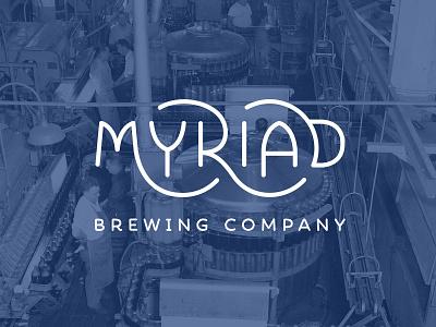 Myriad Brewing Company Logo branding brewing brewing company typography vector logo design