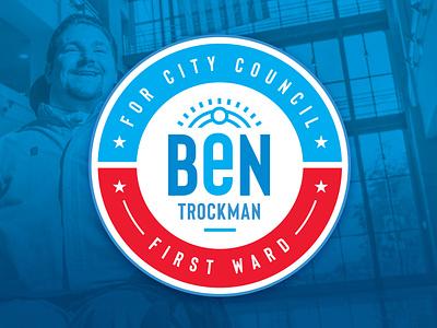 Ben Trockman for City Council Logo city council city illustration vector branding politics politcal logo