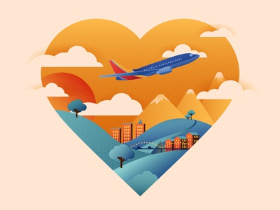How Southwest Leads With Heart to Win Customers airplane heart art direction illustration