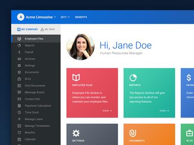 Employee portal redesign (WIP) icons user interface ui desktop art direction website web design