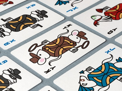 Transnetyx Hold 'em playing cards trade show playing cards art direction poker animals design illustration