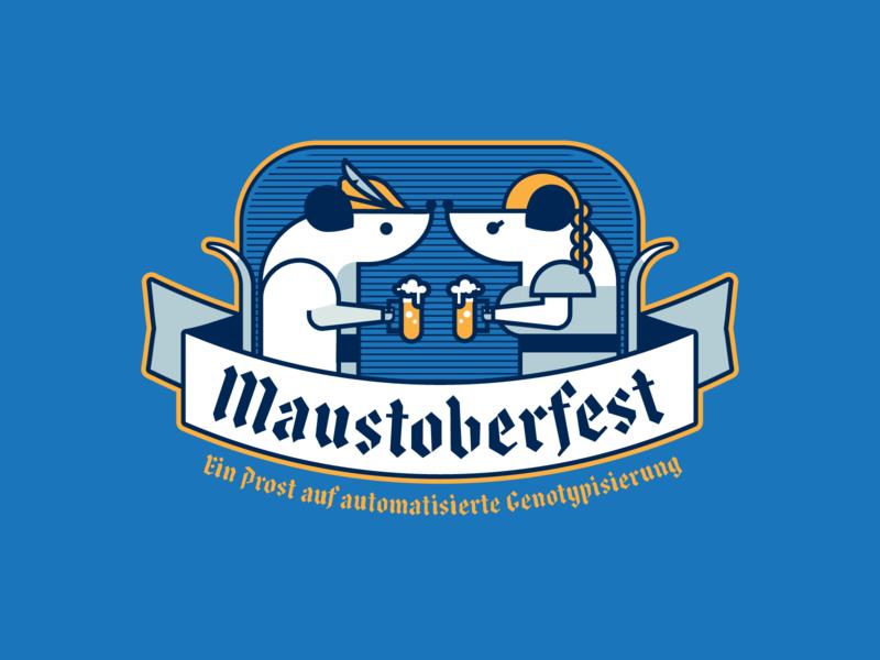 Maustoberfest #1 beaker germany genotyping beer design illustration art direction mouse oktoberfest