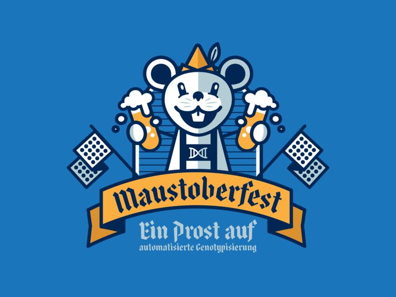 Maustoberfest #2 german beaker mouse beer oktoberfest genotyping design illustration art direction