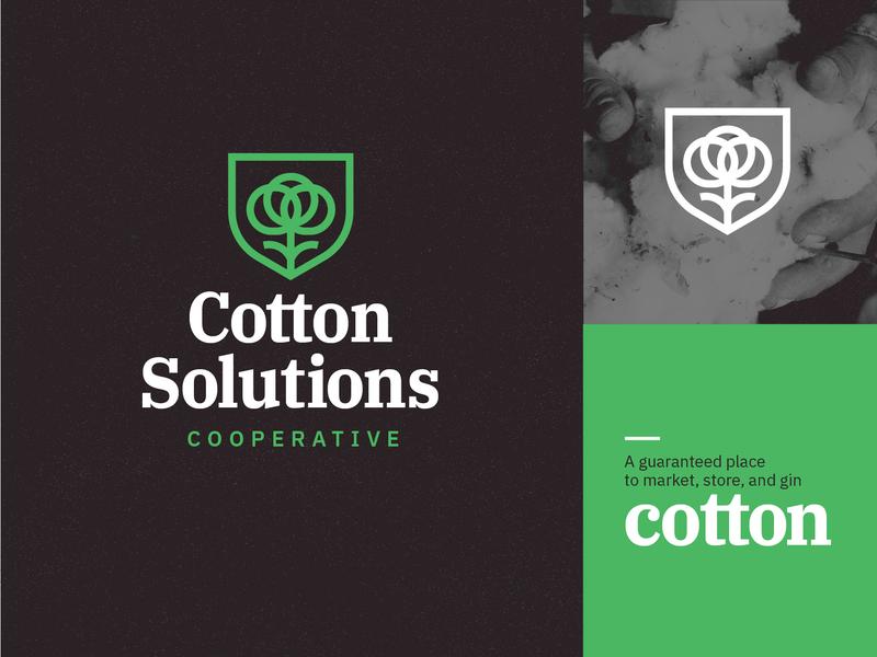 Cotton Solutions Cooperative logo 1 memphis farming cotton design logo art direction