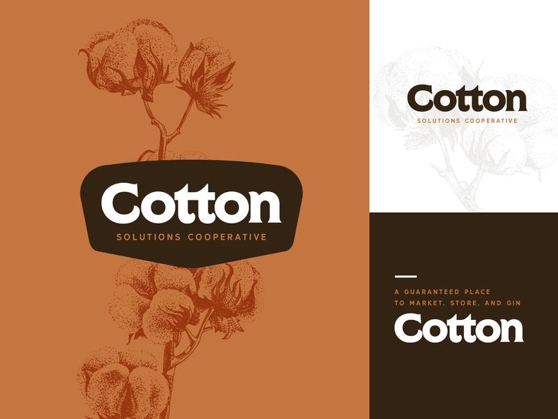 Cotton Solutions Cooperative logo 2 farming cotton logo memphis art direction