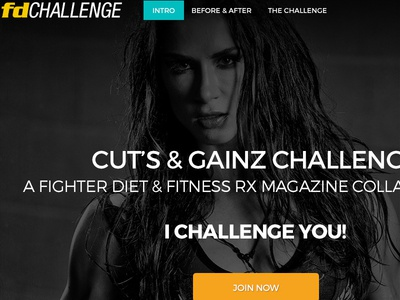 Diet and Fitness Landing Page