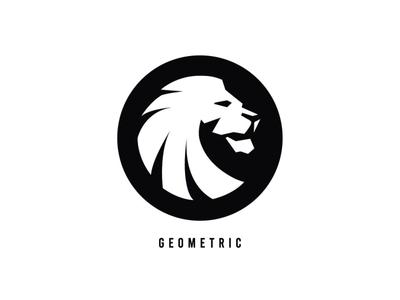 Lion Logo design minimal simple geometric logo lion