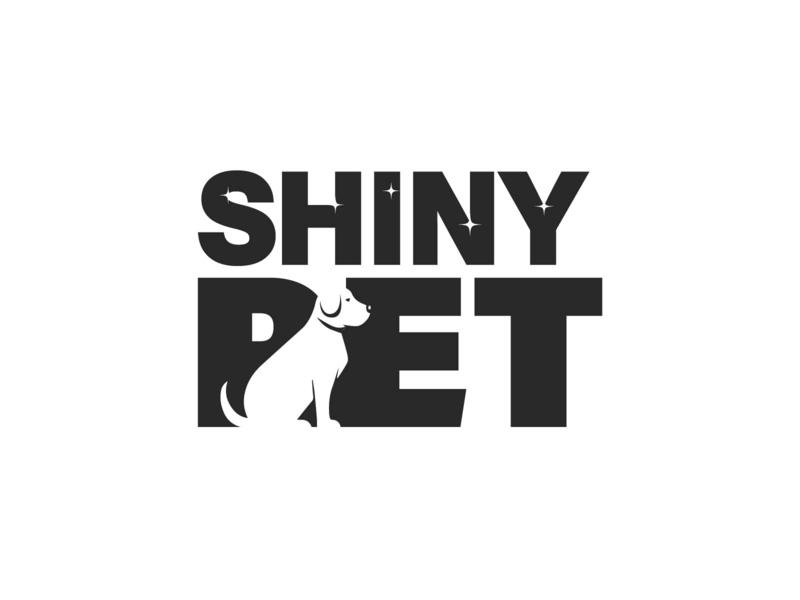 Shiny Pet Dog logo puppy dog pet character illustration logo design creative logo