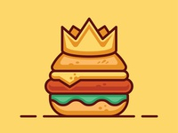 Burger king logo design