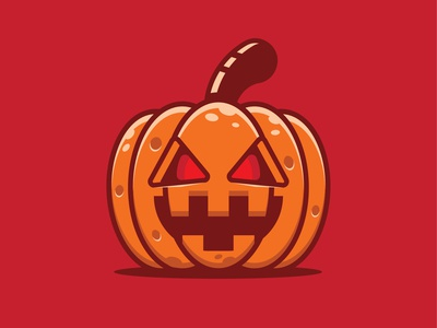 Halloween pumpkin logo design