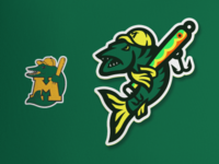 Madison Muskies Re-Spawned branding sports muskellunge muskie fish muskies baseball