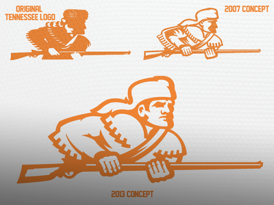 Tennessee Volunteers Then and Now logo sports ncaa tennessee volunteers vols