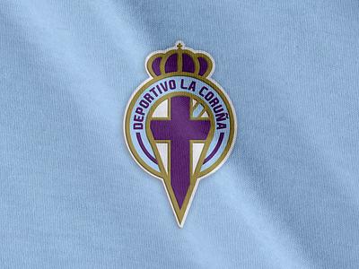 Coruña Crest Concept la liga football logo crest soccer