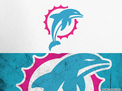 Miami Dolphins vice concept logo sports nfl